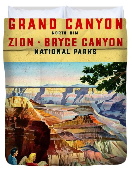 Visit Grand Canyon - Folded Duvet Cover
