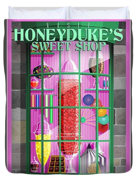 Visit Honeydukes Sweet Shop Duvet Cover