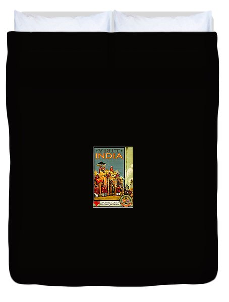 Visit India The Great Indian Peninsula Railway II 1920s A R Acott Duvet Cover