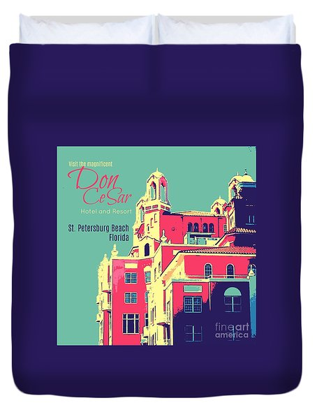 Visit The Don Cesar Duvet Cover