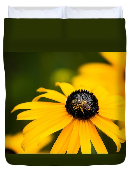 Visitor In The Garden Duvet Cover by Shelby  Young