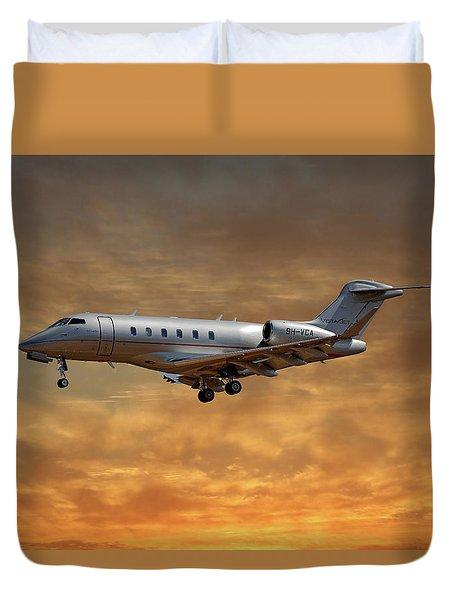 Vista Jet Bombardier Challenger 300 2 Duvet Cover