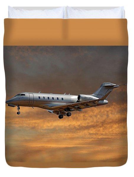 Vista Jet Bombardier Challenger 300 3 Duvet Cover