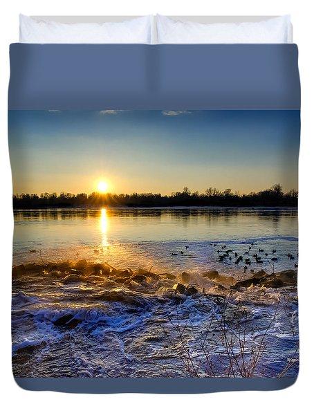 Vistula River Sunset 3 Duvet Cover