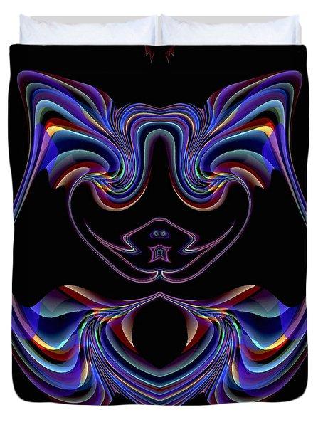 Duvet Cover featuring the digital art Visual Artist Frank Bonilla Logo by Visual Artist Frank Bonilla