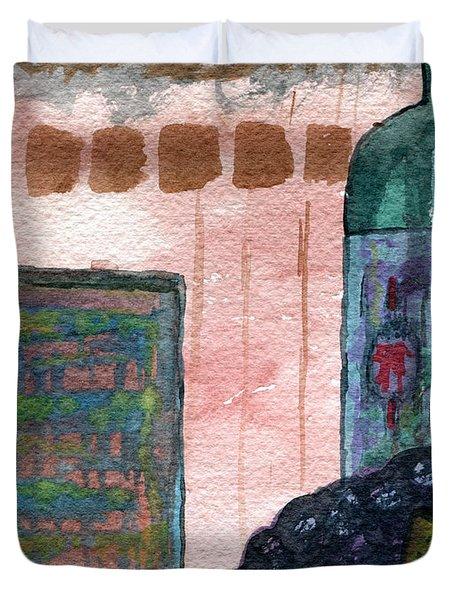 Vita Vinum Duvet Cover by R Kyllo