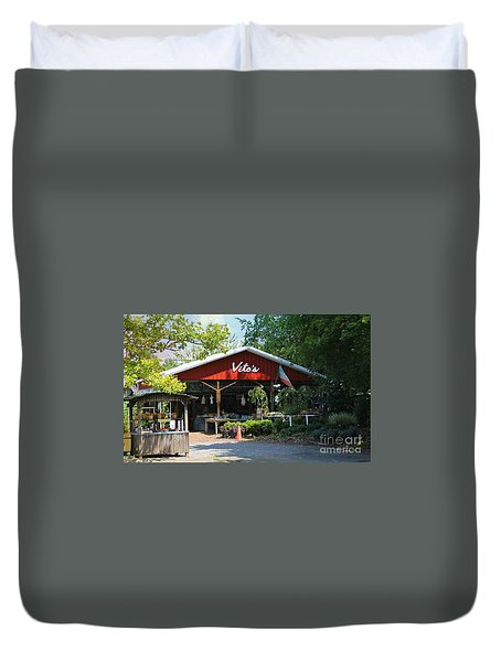Vito's Farm Stand Duvet Cover