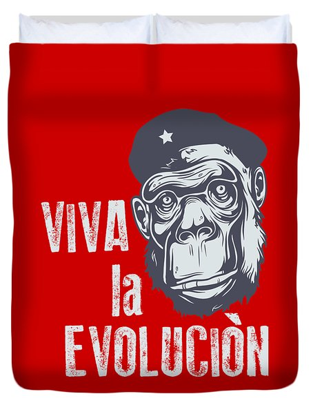 Viva La Evolucion Duvet Cover
