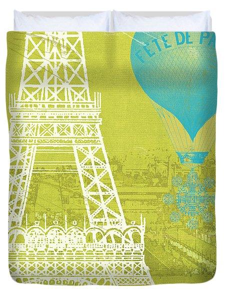Viva La Paris Duvet Cover by Mindy Sommers