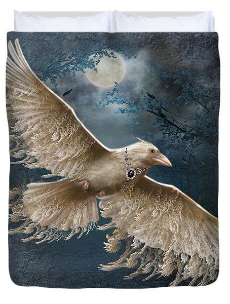Viva The White Raven  Duvet Cover