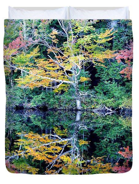 Vivid Fall Reflection Duvet Cover