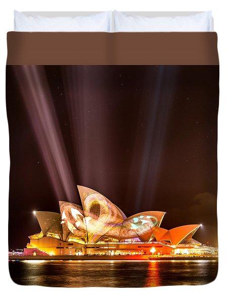 Vivid Opera House Duvet Cover