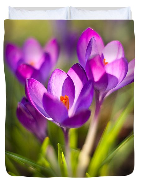 Vivid Petals Duvet Cover by Mike Reid