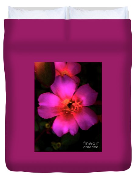 Vivid Rich Pink Flower Duvet Cover