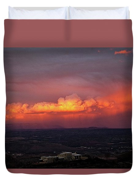 Duvet Cover featuring the photograph Vivid Verde Valley Sunset by Ron Chilston