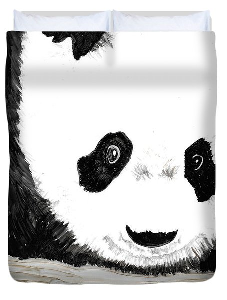 Vivi's Pet Panda Duvet Cover