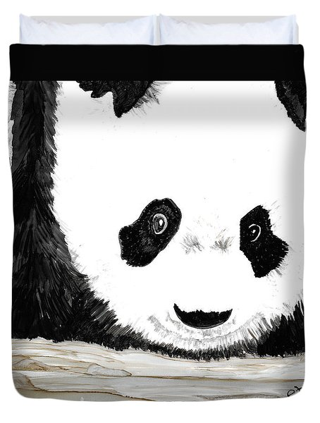Vivi's Pet Panda Duvet Cover