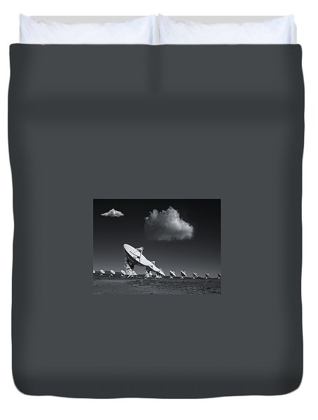 Duvet Cover featuring the photograph VLA by Carolyn Dalessandro