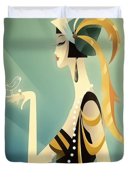 Vogue - Bird On Hand Duvet Cover