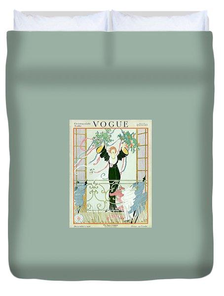 Vogue 1918 Art Deco Fashion Duvet Cover