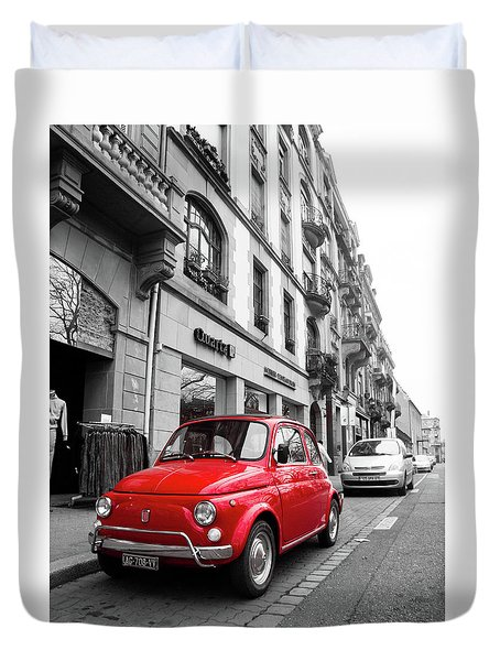 Voiture Rouge Duvet Cover