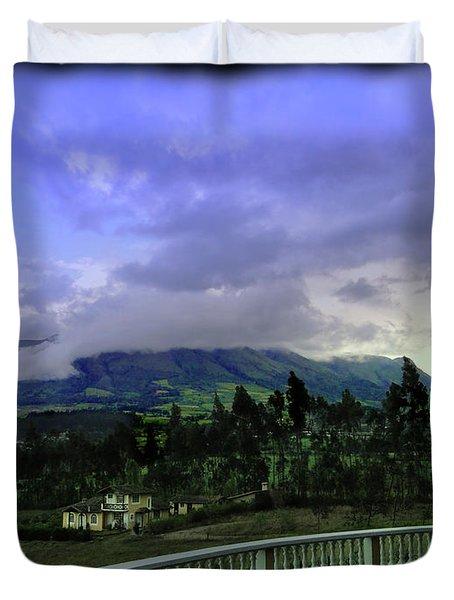 Volcan Cotacachi Duvet Cover