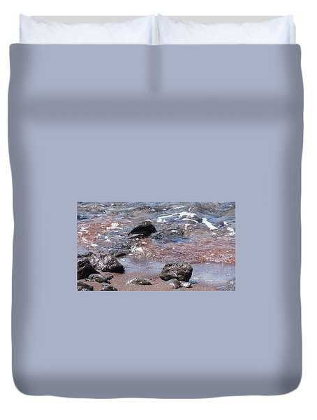 Volcanic Beach Duvet Cover