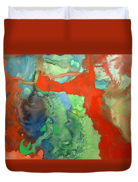 Volcanic Island Duvet Cover by Mary Ellen Frazee