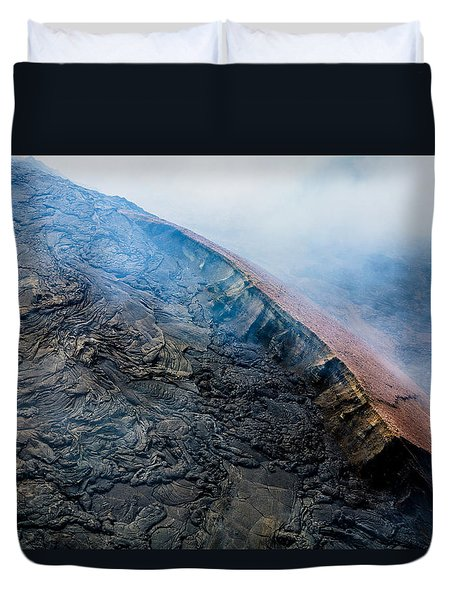 Duvet Cover featuring the photograph Volcanic Ridge by M G Whittingham