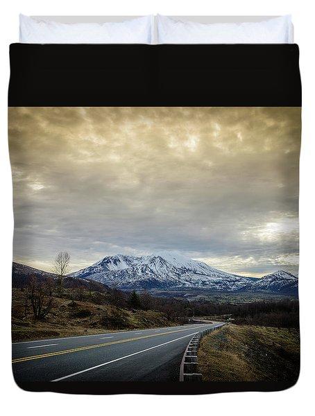 Volcanic Road Duvet Cover