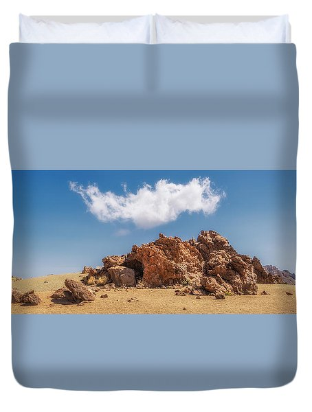 Duvet Cover featuring the photograph Volcanic Rocks by James Billings