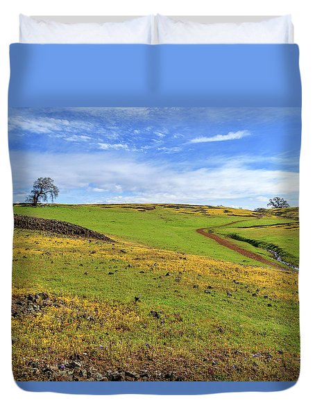 Volcanic Spring Duvet Cover by James Eddy
