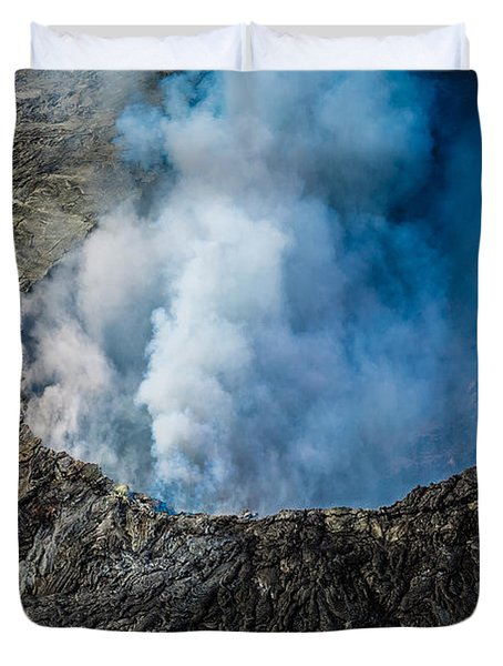 Another View Of The Kalauea Volcano Duvet Cover