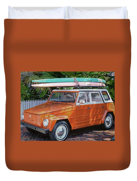 Volkswagen And Surfboards Duvet Cover