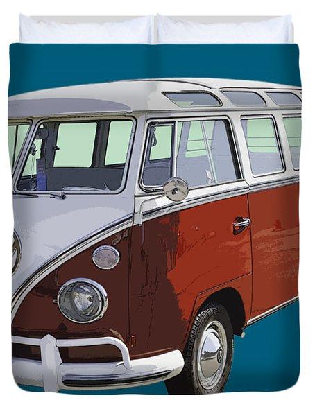 Volkswagen Bus 21 Window Bus  Duvet Cover