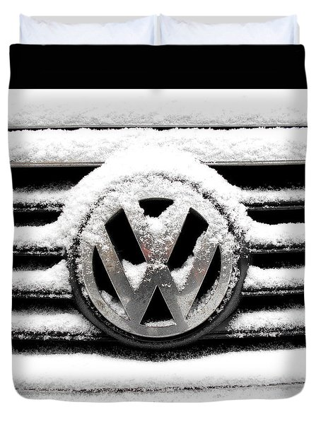 Volkswagen Symbol Under The Snow Duvet Cover