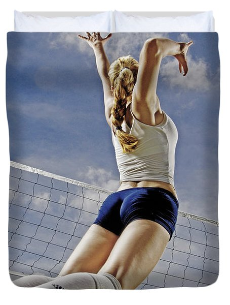 Volleyball Duvet Cover by Steve Williams