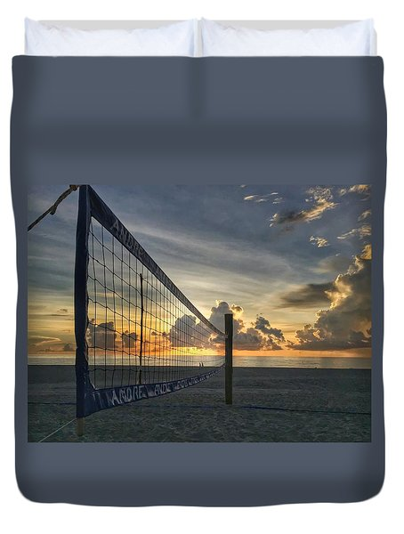 Volleyball Sunrise Duvet Cover