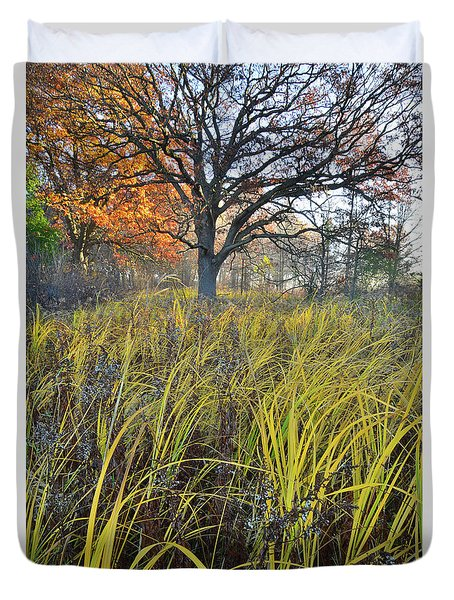 Duvet Cover featuring the photograph Volo Bog Natural Area by Ray Mathis