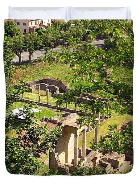 Volterra's Roman Ruins Duvet Cover