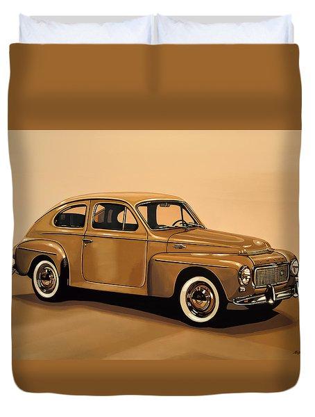 Volvo Pv 544 1958 Painting Duvet Cover