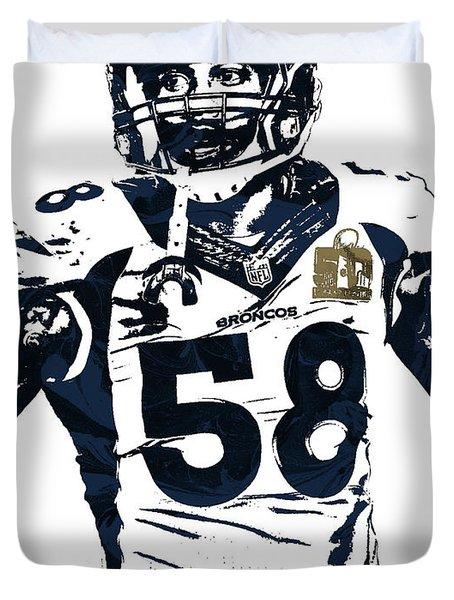 Von Miller Denver Broncos Pixel Art 2 Duvet Cover