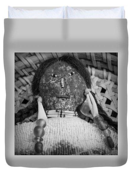 Duvet Cover featuring the photograph Voodoo Girl by Lynn Sprowl
