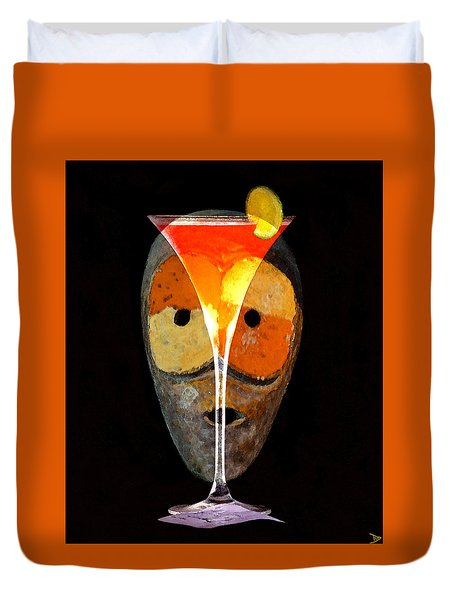 Duvet Cover featuring the painting Voodoo Martini by David Lee Thompson