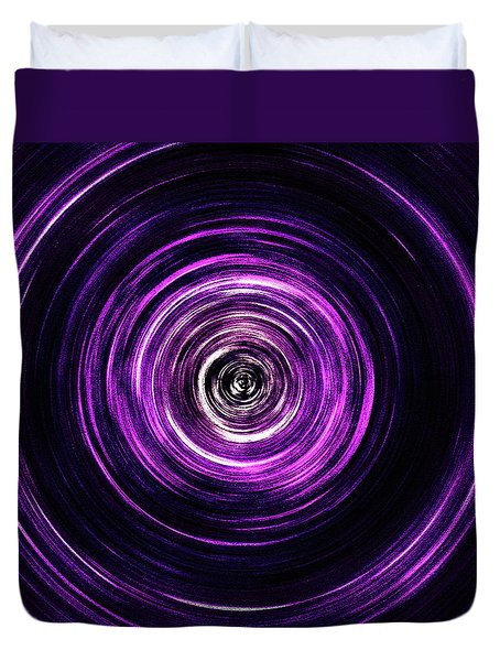 Vortex Into The Unknown Duvet Cover
