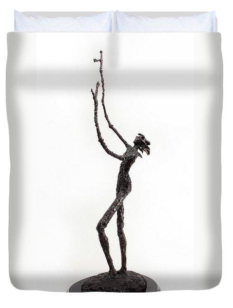 Votary Of The Rain A Sculpture By Adam Long Duvet Cover by Adam Long