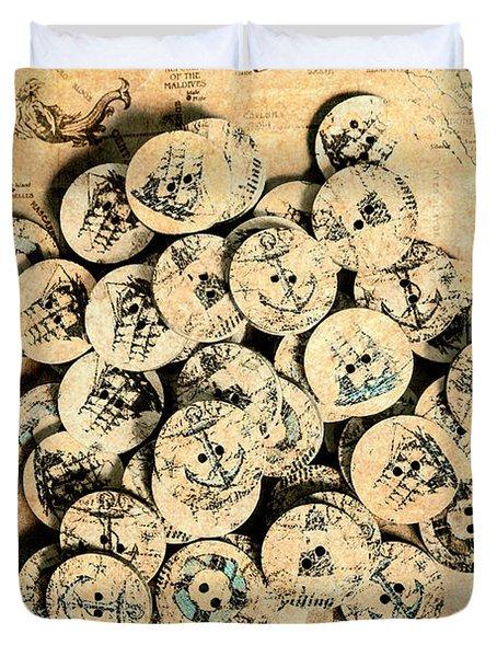 Voyages Of Old World Duvet Cover