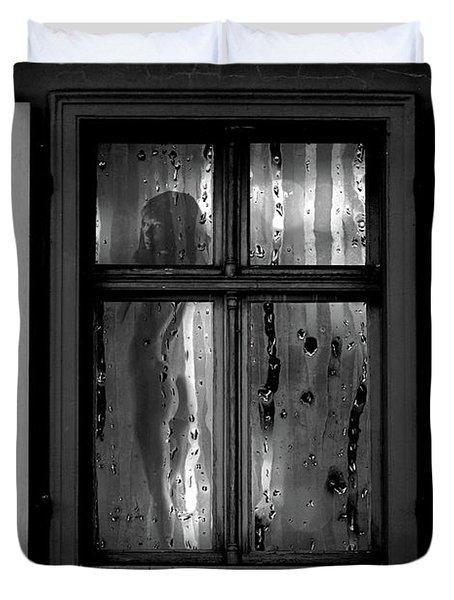 Voyeurism - Nude In Window Duvet Cover
