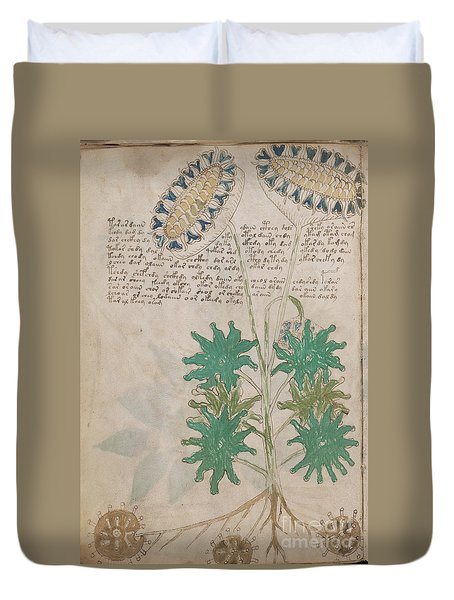 Voynich Flora 04 Duvet Cover