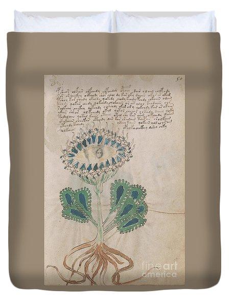 Voynich Flora 11 Duvet Cover